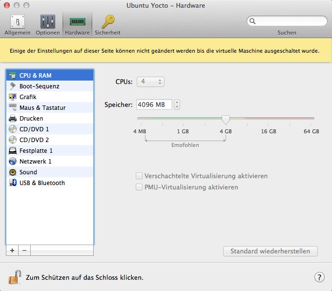 Parallels Desktop VM Settings