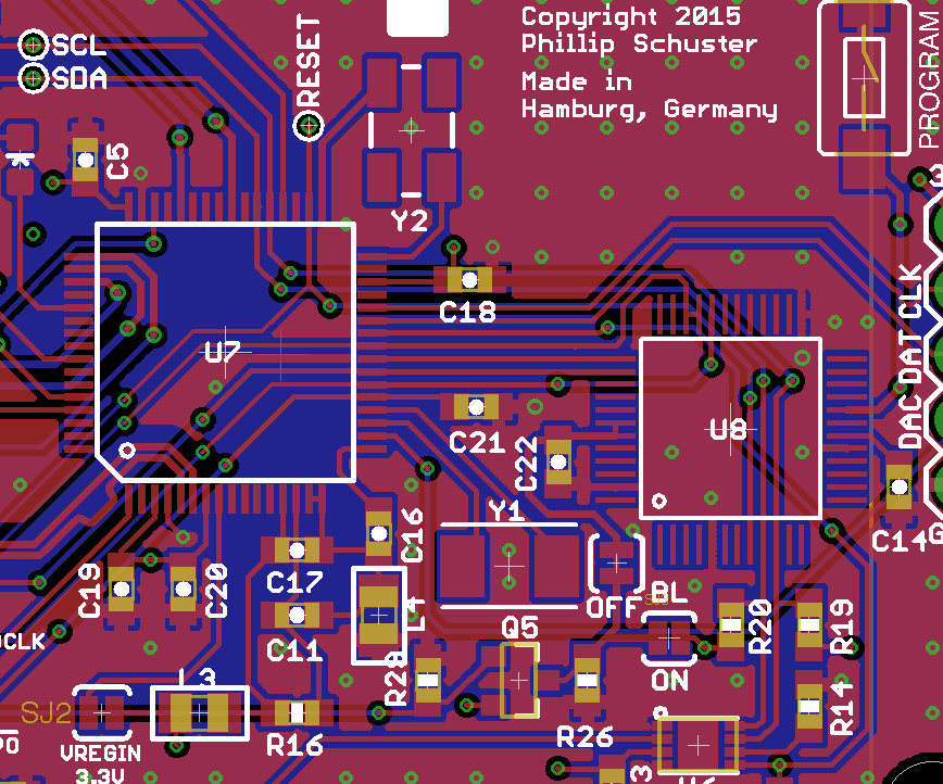 Possible PCB layout for custom Teensy