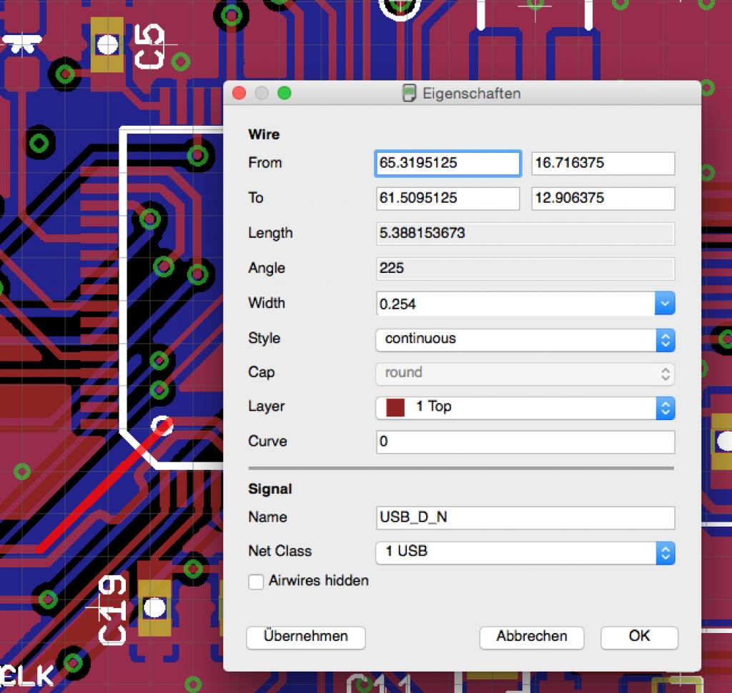 Setting USB net classes in EAGLE